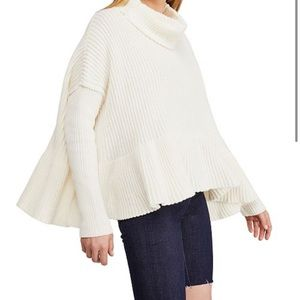 Free people layer cake cowl neck sweater large